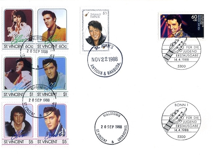 Briefmarken Elvis Presley. Briefkuvert - 1988