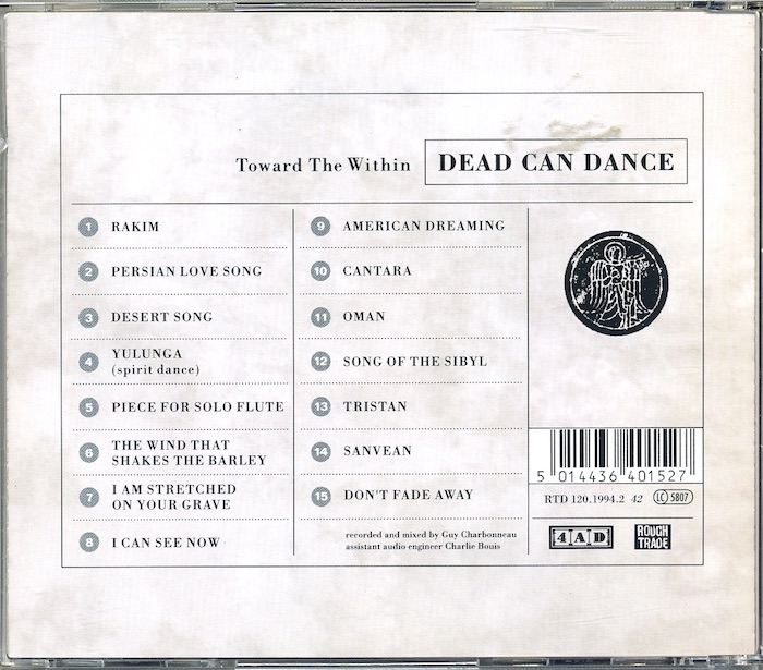 Dead Can Dance: Toward The Within. Audio-CD - 1994