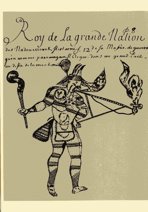 Indianer-Postkarte - Roy de la grande Nation - ca. 1700