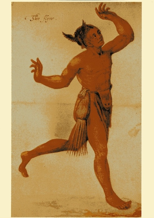 Indianer-Postkarte - The Flyer or Medicine Man - 1585